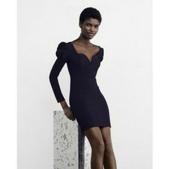 Express Dresses & Skirts - PUFFED SHOULDER SHEATH DRESS